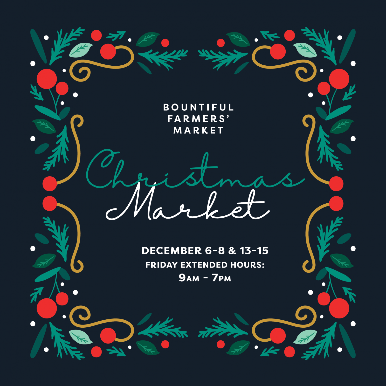 Christmas Markets at Bountiful Farmers' Market