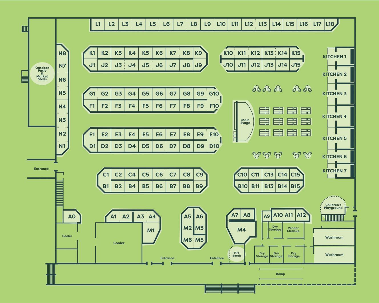Bountiful Farmers' Market - Vendor Map